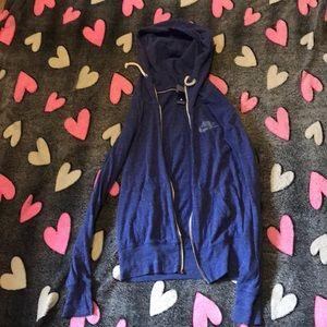 Nike Blue Sweater Jacket